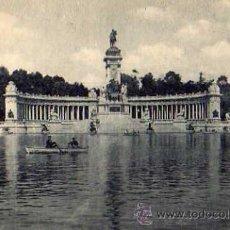 Postales: MADRID Nº 169 MONUMENTO A ALFONSO XII VISTA GENERAL GRAFOS. MADRID SIN CIRCULAR . Lote 30591763