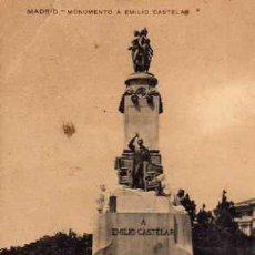 Postales: MADRID MONUMENTO A EMILIO CASTELAR UNIÓN POSTAL UNIVERSAL ESCRITA SIN CIRCULAR . Lote 30613188