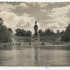 Postales: MADRID. 37. PARQUE DEL RETIRO. ESTANQUE Y MONUMENTO ALFONSO XIII ED. GARCÍA GARABELLA. Lote 30717332