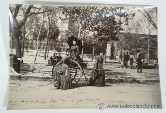Antigua Fotografia Albumina De Ninos Jugando Co Comprar Postales