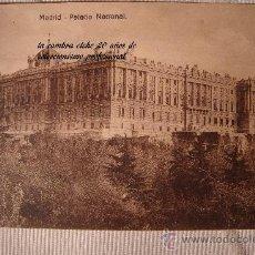 Postales: ANTIGUA POSTAL DE MADRID PALACIO NACIONAL, EDI. EXTRA MADRID.. Lote 30954392