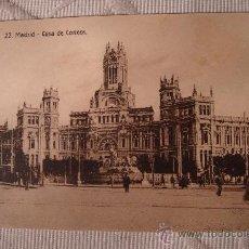 Postales: ANTIGUA POSTAL DE POSTAL POSTAL MADRID CASA CORREOS, EDI. EXTRA. Lote 30954417