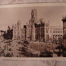 Postales: ANTIGUA POSTAL DE POSTAL MADRID PLAZA DE CASTELAR, CIBELES Y CASA CORREOS, EDI. EXTRA. Lote 30955422