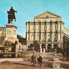 Postales: MADRID – TEATRO REAL Y JARDINES DE ORIENTE. DOMÍNGUEZ Nº 175. AÑOS 60 /ESCRITA. Lote 31013541