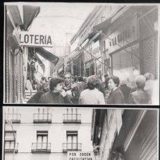 Postales: 2 FOTOGRAFÍAS DE LA CALLE DORÉ EN MADRID-AÑOS 50. Lote 31078252
