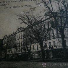 Postales: POSTAL CUARTEL ZARCO DEL VALLE. EL PARDO 1927. Lote 31105300