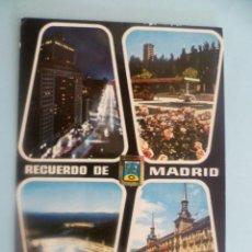 Postales - POSTAL; nº119-MADRID-Edificio España-Parque del Oeste-Plaza Mayor nocturna-Plaza Mayor - 31288620