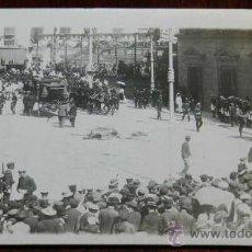 Postales: ANTIGUA FOTO POSTAL DE LA BODA REAL DE ALFONSO XIII Y VICTORIA EUGENIA, EN 1906 SUFRIERON UN ATENTAD. Lote 31635722
