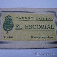 Postales: EL ESCORIAL (MADRID) - CARNET POSTAL - EDITA GRAFOS - CONTIENE 18 POSTALES. Lote 31930509