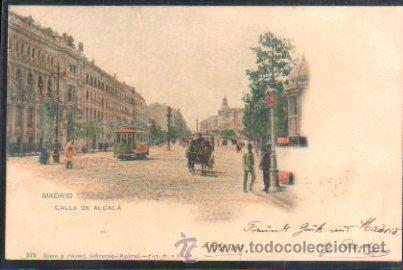 TARJETA POSTAL DE MADRID - CALLE DE ALCALA. 275. HAUSER Y MENET. SELLO DE EL PELON (Postales - España - Comunidad de Madrid Antigua (hasta 1939))