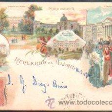Postales: TARJETA POSTAL DE MADRID - RECUERDO DE MADRID. KUNZLI. 396. SELLO DE EL PELON. Lote 31952270