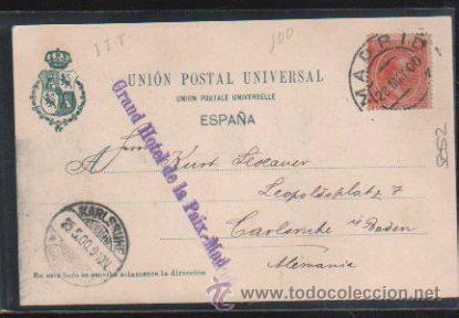 Postales: TARJETA POSTAL DE MADRID - CALLE DE ALCALA. 275. HAUSER Y MENET. SELLO DE EL PELON - Foto 2 - 31952244