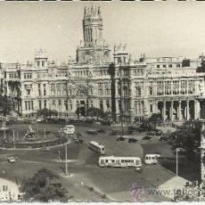 Postales: MADRID IPLAZA DE LA CIBELES PALACIO COMUNICACIONES ESCRITA. Lote 32003263
