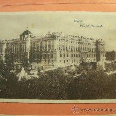 Postales: MADRID PALACIO NACIONAL.. Lote 32059032