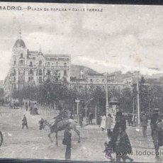 Postales: MADRID.- PLAZA DE ESPAÑA Y CALLE FERRAZ. Lote 32080326