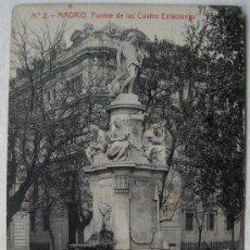 Postales: (MA-30) MADRID, FUENTE DE LAS CUATRO ESTACIONES, P.PRADO,CIRCA 1900. Lote 31699617