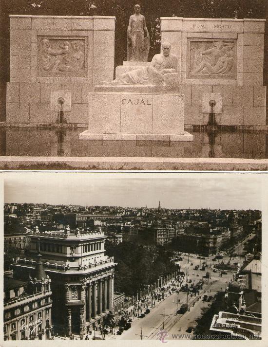 Postales: LOTE 4 POSTALES MADRID Colegio del Pilar Plaza Príncipe Alfonso Monumento Cajal Calle Alcalá - Foto 2 - 32142492