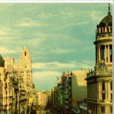 Postales: POSTAL MADRID AVENIDA JOSE ANTONIO VISTA PARCIAL. Lote 32158907