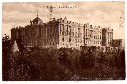 MADRID. PALACIO REAL. ESCRITA (Postales - España - Comunidad de Madrid Antigua (hasta 1939))