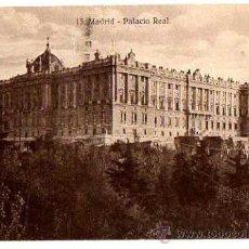 Postales: MADRID. PALACIO REAL. ESCRITA. Lote 32178186