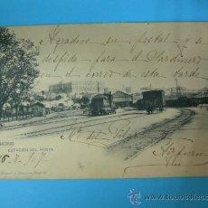 Postales: ANTIGUA POSTAL DE MADRID - ESTACION DEL NORTE - HAUSER Y MENET - CIRCULADA 1906. Lote 32197295