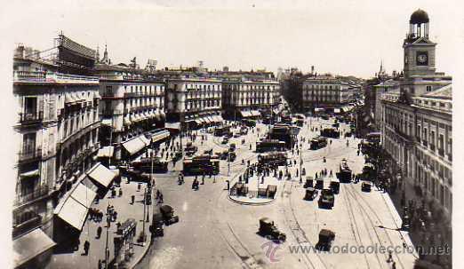 MADRID Nº 1 PUERTA DEL SOL FOT. L. ROISÍN SIN CIRCULAR POSTAL FOTOGRÁFICA (Postales - España - Madrid Moderna (desde 1940))