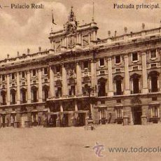 Postales: MADRID Nº 109 PALACIO REAL FACHADA PRINCIPAL SIN CIRCULAR . Lote 32218967
