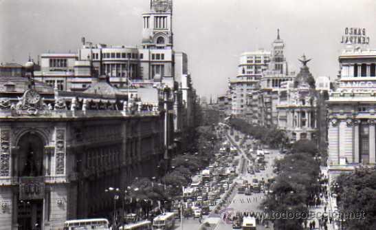 MADRID Nº 22 CALLE ALCALÁ DOMINGUEZ ESCRITA CIRCULADA SELLO (Postales - España - Madrid Moderna (desde 1940))