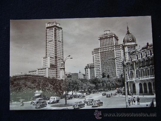 POSTAL 170. PLAZA DE ESPAÑA, TORRE DE MADRID Y EDIFICIO ESPAÑA. POSTAL MADRID. MADRID. (Postales - España - Comunidad de Madrid Antigua (hasta 1939))