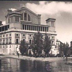 Postales: MADRID.- PLAZA DE ISABEL II Y PARTE POSTERIOR DEL TEATRO DE LA OPERA. Lote 32261703