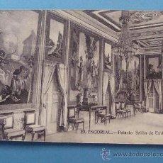 Postales: POSTAL DE SAN LORENZO ESCORIAL, MADRID. PRIMEROS DE SIGLO XX. SALÓN DE EMBAJADORES. 682. . Lote 32286742
