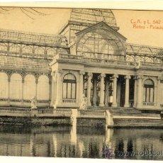 Postales: MADRID - POSTAL RETIRO PALACIO DE CRISTAL. Lote 32428142