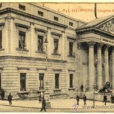 Postales: MADRID - POSTAL CONGRESO DE LOS DIPUTADOS. Lote 32428173