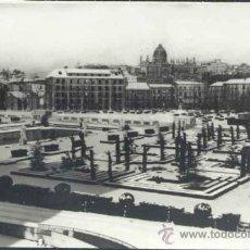 Postales: MADRID NEVADO.- JARDINES DE PALACIO Y PASEO DE ONESIMO REDONDO. Lote 32645338