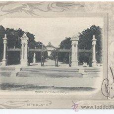 Postales: MADRID ENTRADA AL PARQUE. SERIE D Nº 6. FOTO LAURENT.CIRCULADA EN 1902. Lote 32679850