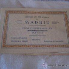 Postales: MADRID - ALBUM DE 10 VISTAS. TARJETAS POSTALES- 1ª SERIE - ELISA FUERTES GUILLEN. Lote 32708641