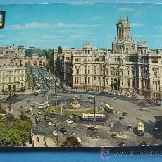 Postais: POSTAL DE MADRID. AÑO 1962. LA CIBELES, CALLE ALCALÁ Y PALACIO COMUNICACIONES. 884. . Lote 32713692