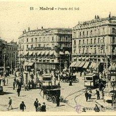 Postales: POSTAL ANTIGUA MADRID PUERTA DEL SOL, SIN CIRCULAR. Lote 32848581