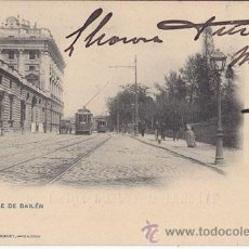 Postales: TARJETA POSTAL. MADRID, CALLE DE BAILÉN. HAUSER Y MENET AÑO 1900. Lote 33088418