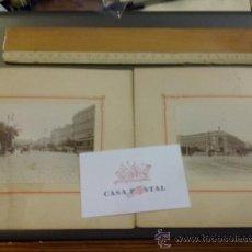 Postales: LOTE DE DOS FOTOGRAFIAS DE MADRID. CALLE ALCALA 8 X 11 CM. (SOLO LA FOTO), MONTADA EN CARTON 16 X19 . Lote 33232773