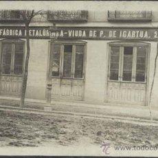 Postales: MADRID.- FABRICA METALURGICA- VDA DE P. DE IGARTUA. Lote 33247890