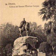 Postales: MADRID Nº 19 ESTÁTUA DEL GENERAL MARTÍNEZ CAMPOS SIN CIRCULAR . Lote 33493505