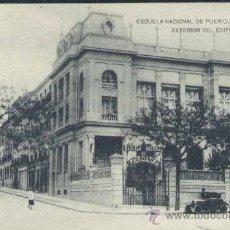 Postales: MADRID.- ESCUELA NACIONAL DE PUERICULTURA- EXTERIOR DEL EDIFICIO ( CALLE FERRAZ). Lote 33523045