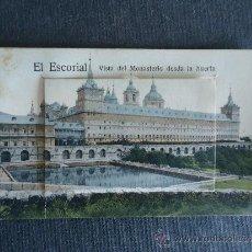 Postales: MADRID. EL ESCORIAL.'VISTA DEL MONASTERIO DESDE LA HUERTA' DESPLEGABLE CON 12 VISTAS. Lote 33765818
