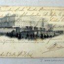 Postales: POSTAL MADRID NÚM 52 PALACIO REAL VISTO DESDE LA CUESTA DE SAN VICENTE EDIT. LAURENT MADRID 1904. Lote 33811610