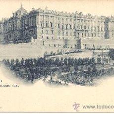 Postales: PS1531 MADRID 'PALACIO REAL'. HAUSER Y MENET. NÚM. 81. SIN CIRCULAR. PRINC. S. XX. Lote 33895169