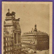 Postales: MADRID - CALLES ALCALA Y SEVILLA - Nº 7 - ED.HELIOTIPIA ARTISTICA - SIN CIRCULAR - AÑOS 30/40 - X. Lote 33964124