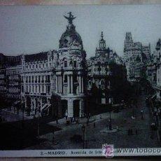 Postales: POSTAL DE MADRID, AVENIDA DE JOSÉ ANTONIO. Lote 33992943