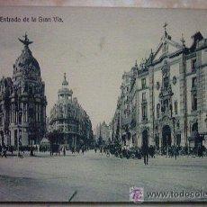 Postales: POSTAL DE MADRID, ENTRADA DE LA GRAN VIA . Lote 33993087