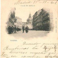 Postales: MADRID Nº85 CALLE DE SEVILLA EDITA HAUSER Y MENET CIRCULADA EN 1901. Lote 34494602